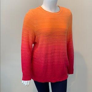 Chaps Hi Lo Oversized Ombré Sweater
